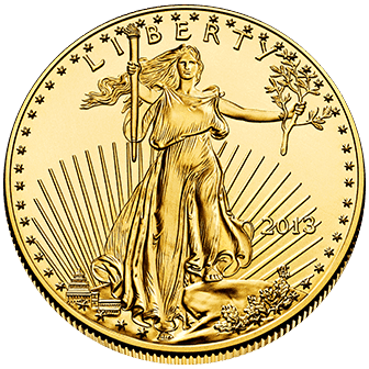 Gold American Eagle