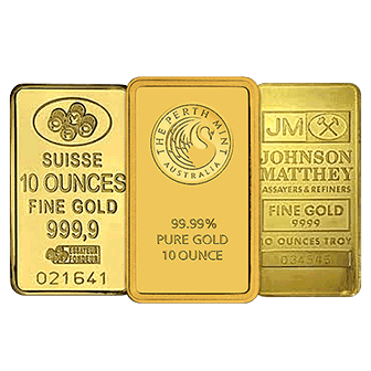Gold Bar 10 Oz (Random Mint)
