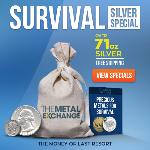 Survival Silver $100 Face Value